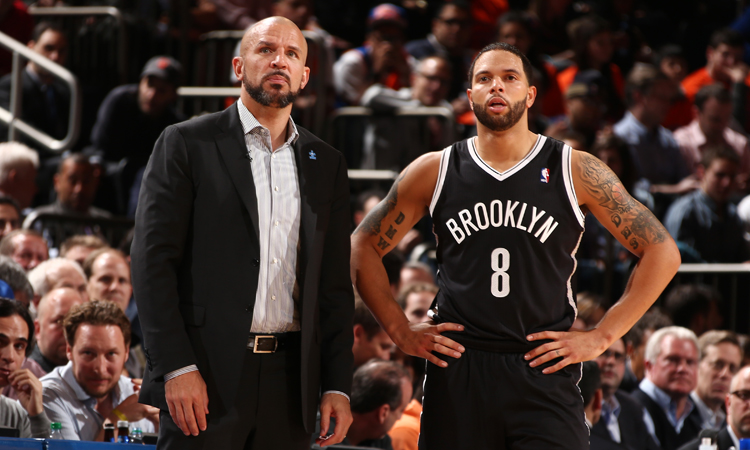 D-Will and Coach Jason Kidd are looking toward the playoffs, but still must contend with the rival Knicks on Tuesday in Brooklyn (Getty Images).